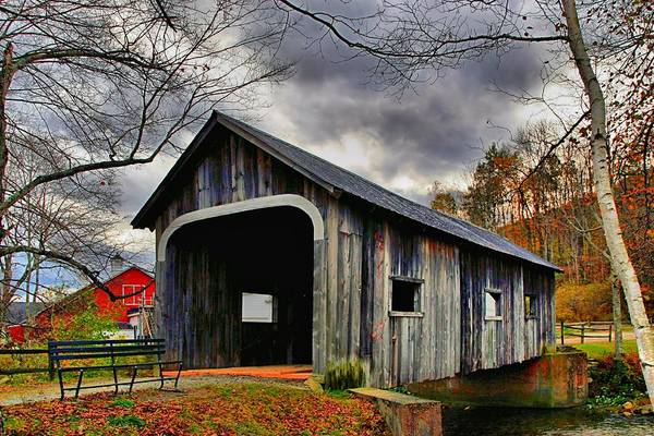 Wall Art - Photograph - Mcwilliam Covered Bridge by DJ Florek