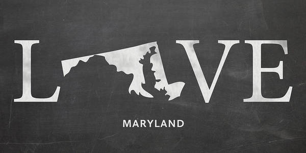 Maryland Mixed Media - Md Love by Nancy Ingersoll