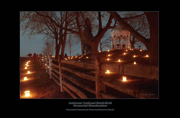 Luminaries Photograph - Md Monument From Smoketown Road 98 by Judi Quelland