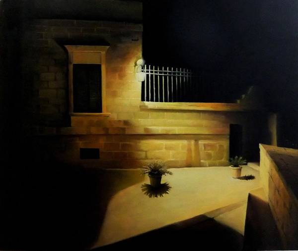 Benny Painting - Mdina By Night by Benny Brimmer