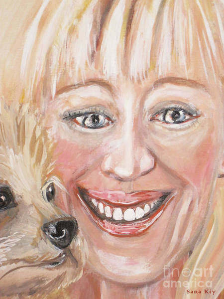 Painting - Me And Little Miss Molly. Image Of Painting by Oksana Semenchenko