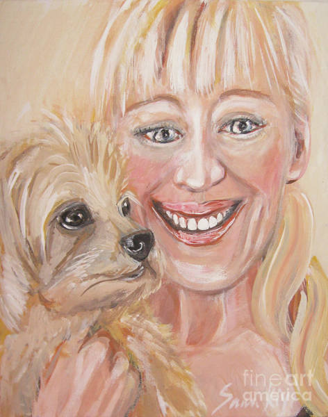 Painting - Me And Little Miss Molly. Painting by Oksana Semenchenko