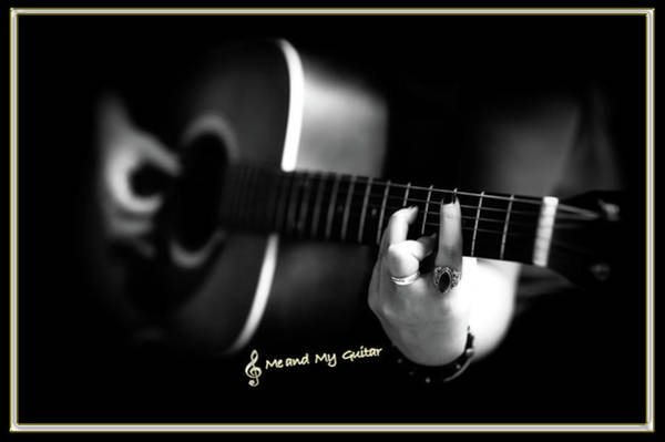 Photograph - Me And My Guitar by Carlos Diaz