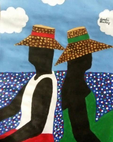 Gullah People Wall Art - Painting - Me And My Old Ladie by Quadre' Stuckey