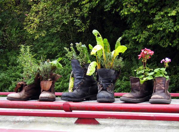 Photograph - Me Garden Boots by Kurt Van Wagner