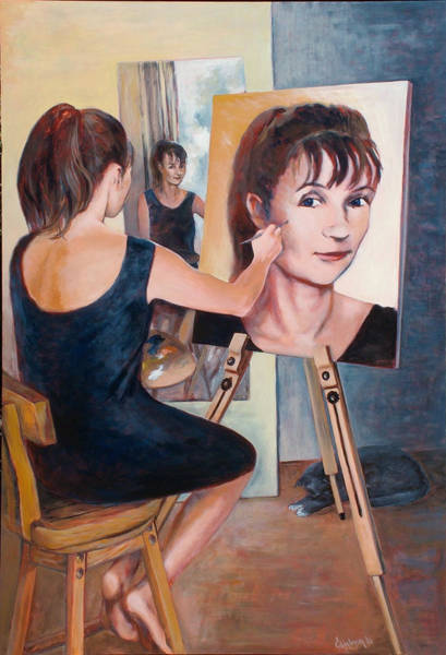 Wall Art - Painting - Me  Me And Me by Ekaterina Mortensen