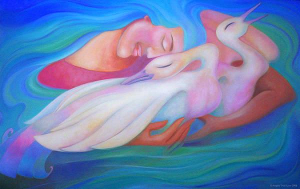 Painting - Me Times Three by Angela Treat Lyon