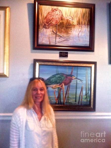 Photograph - Me With Wailing Bird And Little Green Heron by AnnaJo Vahle