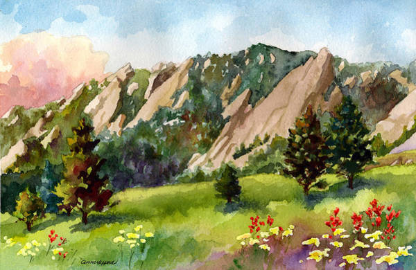 Colorado Wall Art - Painting - Meadow At Chautauqua by Anne Gifford
