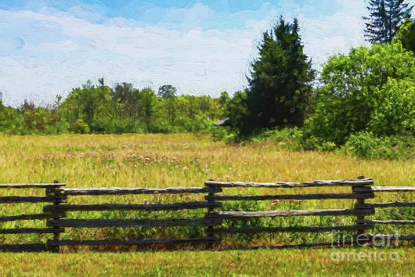Photograph - Meadow Behind A Split-rail Fence by Les Palenik