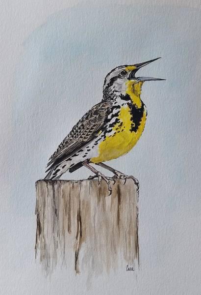 Meadow Lark Painting - Meadow Lark Song by Katrina Case