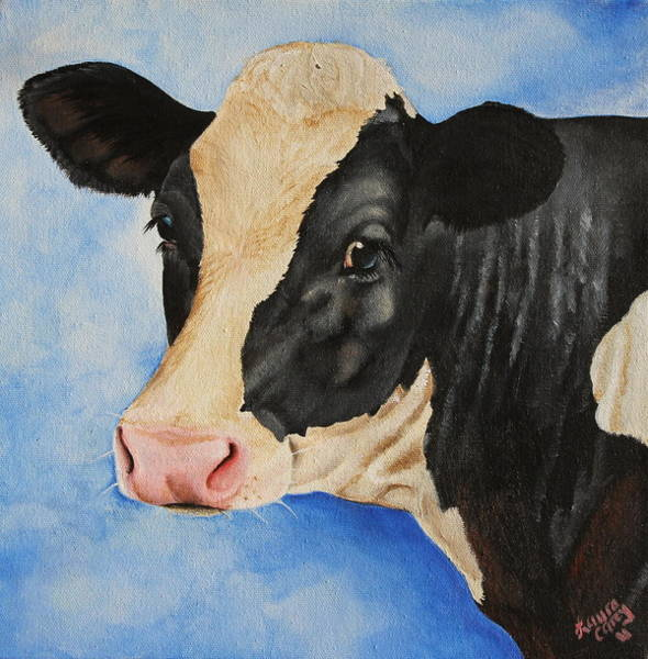 Holstein Wall Art - Painting - Meadow by Laura Carey