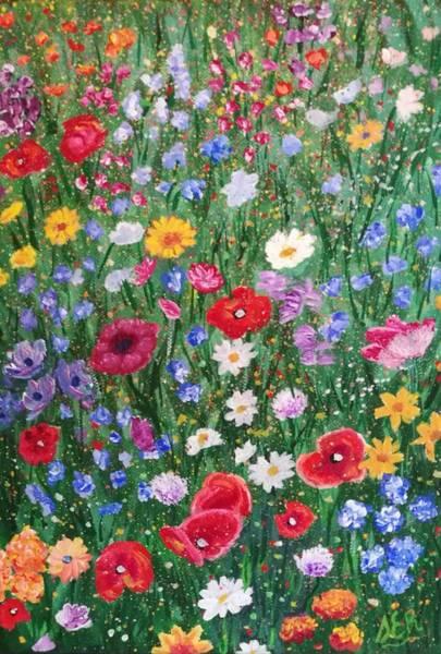 Samantha Painting - Meadow by Samantha E Rowley