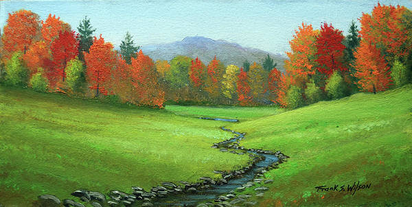 Painting - Meadow Stream by Frank Wilson