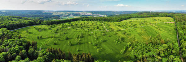 Photograph - Meadow With Trees Green Nature Braunaecker Germany by Matthias Hauser