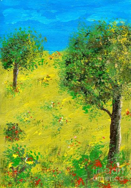 Painting - Meadow With Trees by Sascha Meyer