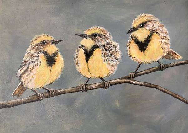 Meadowlark Painting - Meadowlarks  by Glenda Stevens