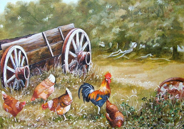 Painting - Meals And Wheels by Val Stokes