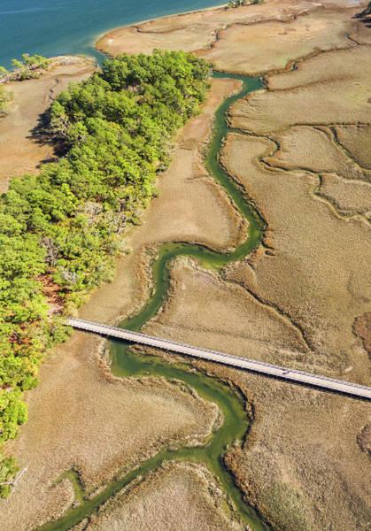 Wall Art - Photograph - Meandering Charleston Creek by Drew Castelhano