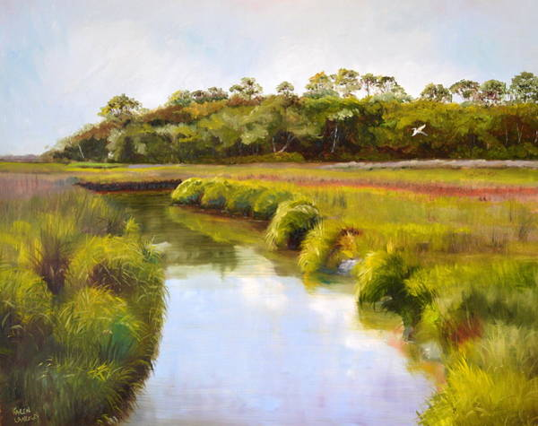 Meandering Marsh Art Print