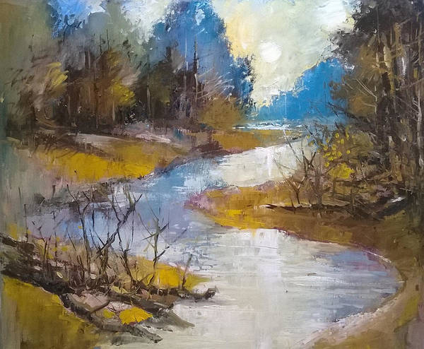 Painting - Meandering River by Lorand Sipos