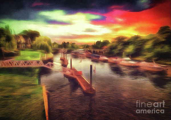 Meanwhile Back On The River Art Print