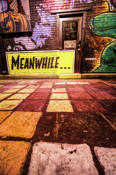 Mural Photograph - Meanwhil...in An Alley In Bentonville by Gregory Ballos