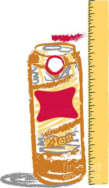 Beer Can Digital Art - Measuring Up by Timothy Winiarski