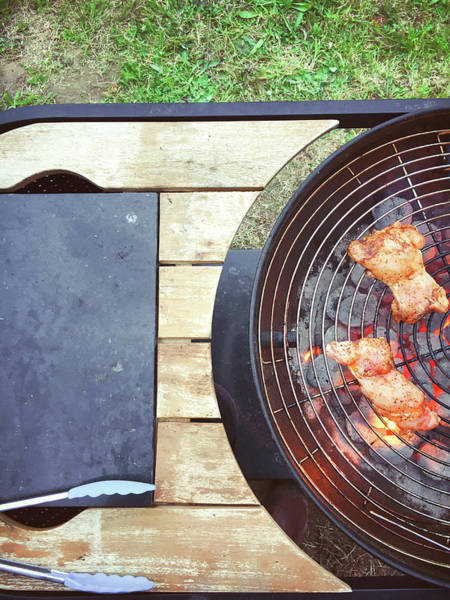 Barbeque Photograph - Meat On The Barbeque by Tom Gowanlock