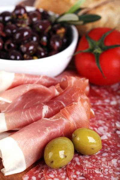 Italian Cuisine Photograph - Meat Platter  by Jane Rix