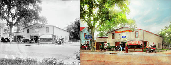 Photograph - Mechanic - All Cars Finely Tuned 1920 - Side By Side by Mike Savad