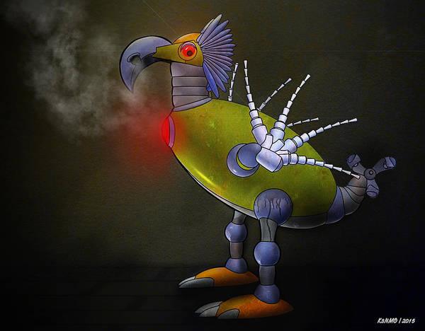 Ken Morris Digital Art - Mechanical Bird by Ken Morris