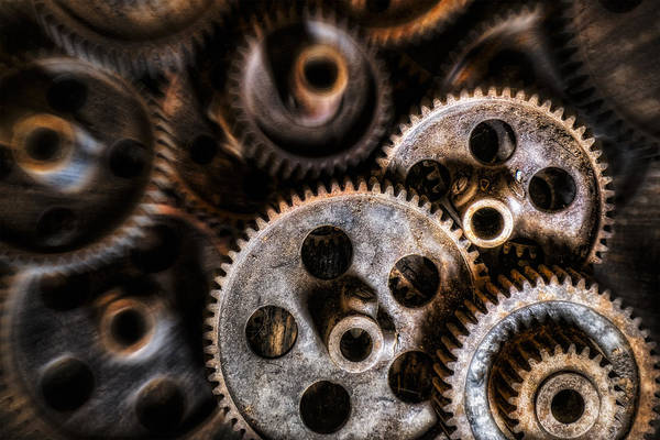 Photograph - Mechanical Gears by Susan Candelario