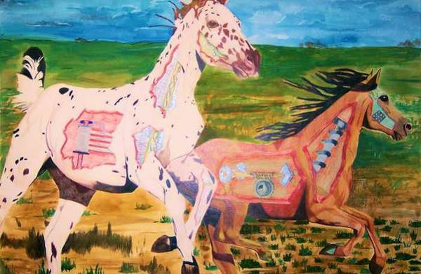 Appaloosa Drawing - Mechanical Horses by Sherri Ward