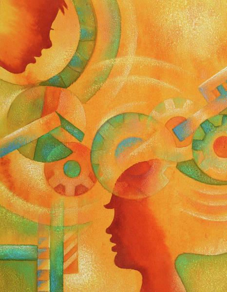 Develop Painting - Mechanical Minds by Leon Zernitsky