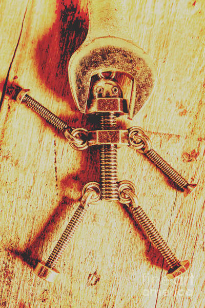 Mechanism Photograph - Mechanical Nut  by Jorgo Photography - Wall Art Gallery