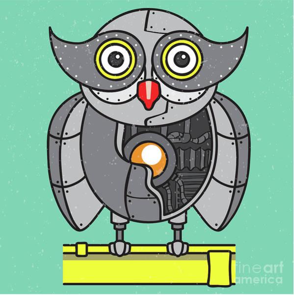 Wall Art - Digital Art - Mechanical Owl Artwork by Jorgo Photography - Wall Art Gallery
