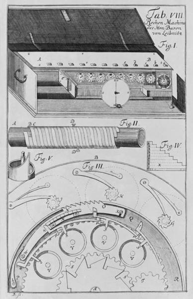 Tc Photograph - Mechanisms Of Gottfried Leibnizs by Everett