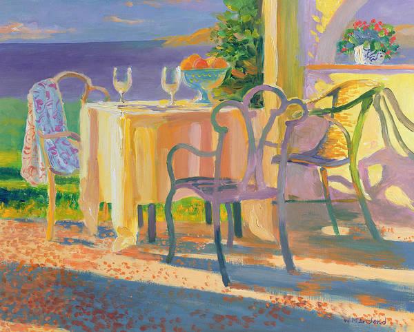 Dining Al Fresco Painting - Med Evening by William Ireland
