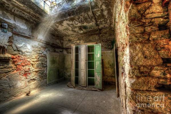 Photograph - Medical Cabinet Eastern State Penitentiary by Anthony Sacco