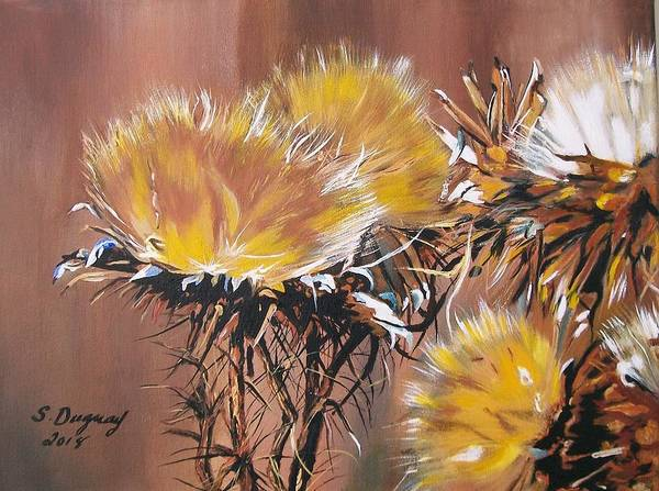 Painting - Medicinal Golden Thistle by Sharon Duguay