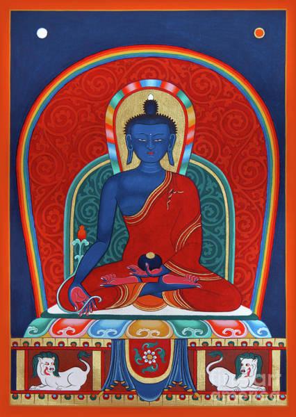 Wall Art - Painting - Medicine Buddha Menla by Sergey Noskov