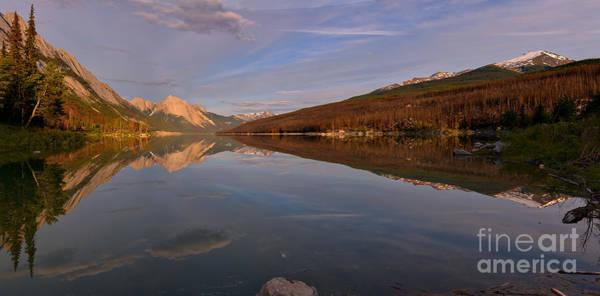 Photograph - Medicine Lake Spring Reflection Panorama by Adam Jewell