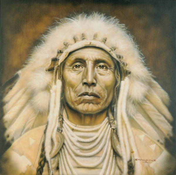 Wall Art - Painting - Medicine Man by Timothy Scoggins