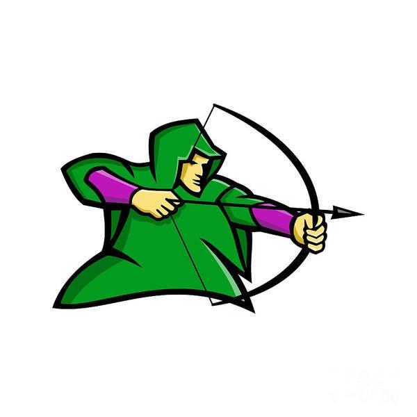 Wall Art - Digital Art - Medieval Archer Mascot by Aloysius Patrimonio