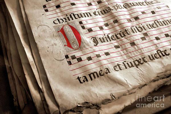 Language Photograph - Medieval Choir Book by Carlos Caetano