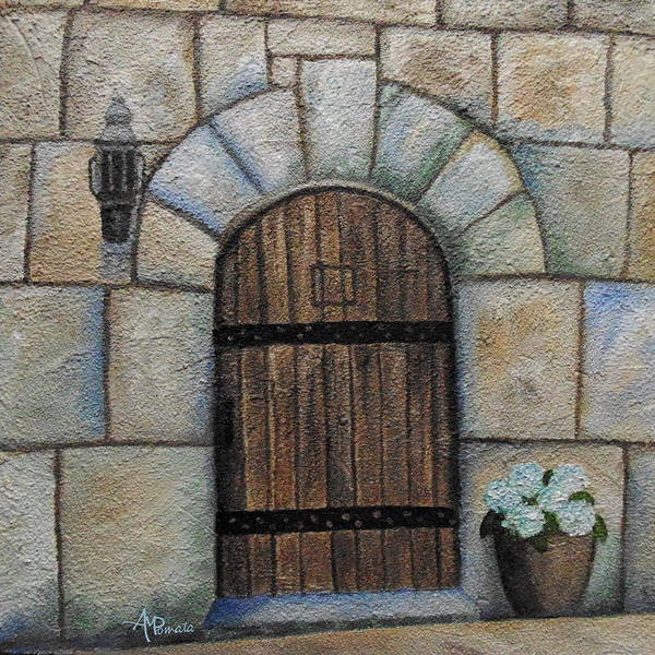 Painting - Medieval Door by Angeles M Pomata