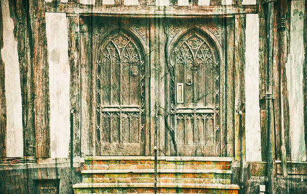 Archway Photograph - Medieval Doors by Tom Gowanlock