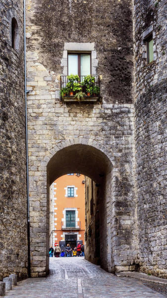 Photograph - Medieval Girona Lane by Joan Carroll