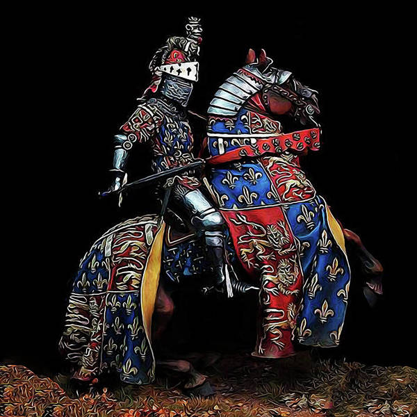 Wall Art - Painting - Medieval Knight - 02 by Andrea Mazzocchetti
